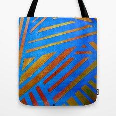 Geometric Blue Tote Bag