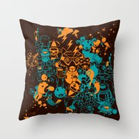 Dream Factory Orange And… Throw Pillow