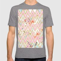 Pastel Watercolor Floral… Mens Fitted Tee Tri-Grey SMALL
