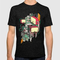 Cubots Mens Fitted Tee Tri-Black SMALL