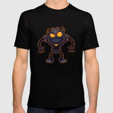 Angry Robot Black SMALL Mens Fitted Tee