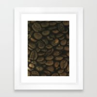 Coffee pattern, fine art photo, Coffeehouse, shops, bar & restaurants, still life, interior design Framed Art Print