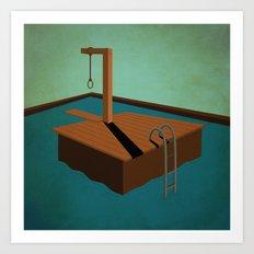 swimming death Art Print