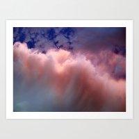 Ocean In The Sky  Art Print