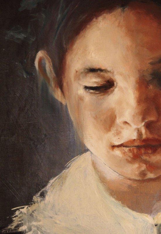 blue boy (detail) Canvas Print