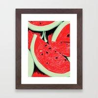 Watermelon, 2013. Framed Art Print
