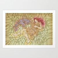 Fino & Lilu Art Print
