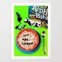 Cows at work Art Print