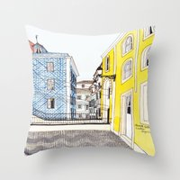 Beautiful Lisbon By Char… Throw Pillow