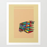 Triheaded Art Print