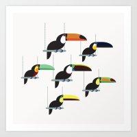 The Toucans Art Print