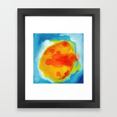 Sun Abstraction Framed Art Print