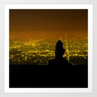 Citylights Art Print