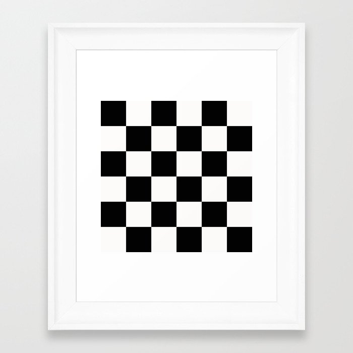 black and white checkers framed art print by sshaw photographic