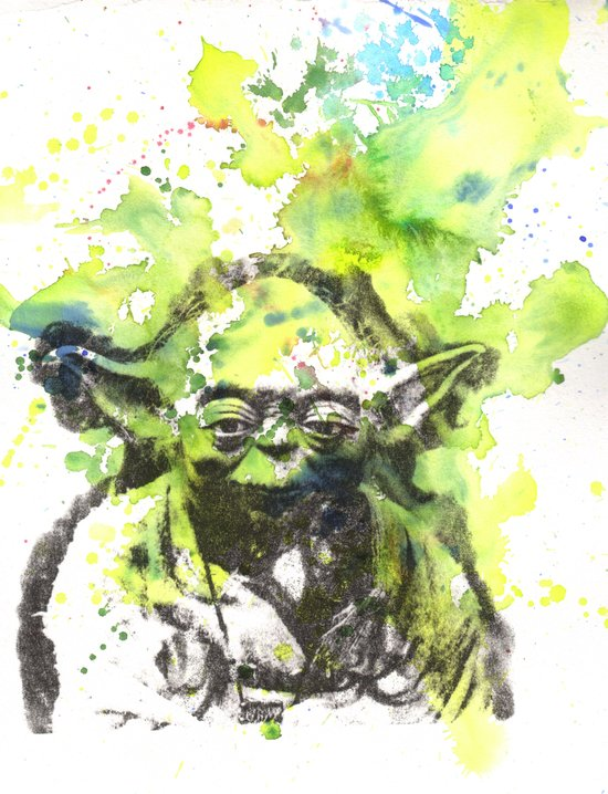 May the Force be with You Yoda Star Wars Art Print
