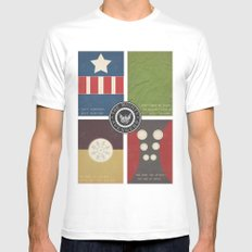 The Mighty Avengers White SMALL Mens Fitted Tee