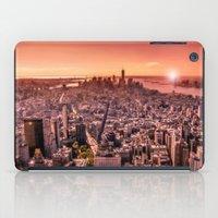 Manhattan In Red iPad Case