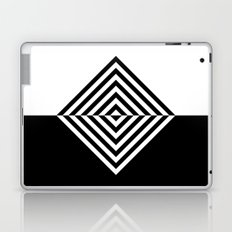 Black and White Concentric Diamonds Laptop & iPad Skin