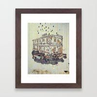 Beautiful building in green island 洋樓 Framed Art Print