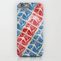 Vintage Postage Stamp Collection - 03 (airmail diagonal) iPhone 6 Slim Case