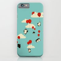 clouds iPhone & iPod Cases featuring We Can Fly! by Jay Fleck