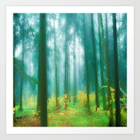 Fairy tale (Green) Art Print