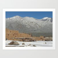 Taos Pueblo, NM Art Print
