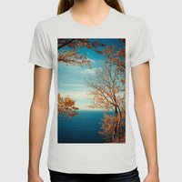 The View From The Top Womens Fitted Tee Silver SMALL