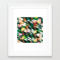 Roses and Triangles Framed Art Print