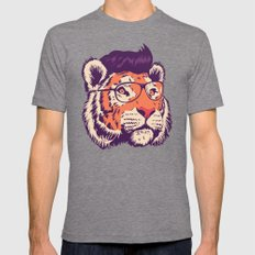 tiger cartoon Mens Fitted Tee Tri-Grey SMALL