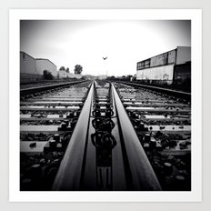 Gritty City railway Art Print