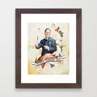 Happy Turkey Day Framed Art Print