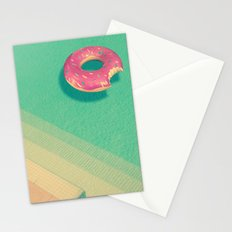 Pool Donut Stationery Cards