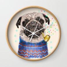 Mr.Pug II Wall Clock
