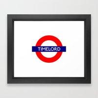 Timelord Framed Art Print