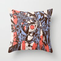 Modern Macabre Throw Pillow