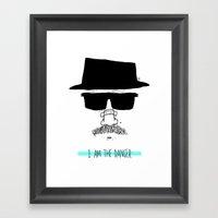 I Am The Danger. Framed Art Print