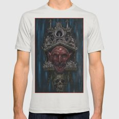 Nosferatu Clock Mens Fitted Tee Silver SMALL