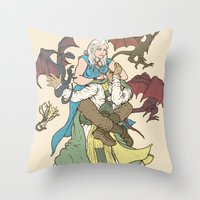 Mother Of The Dragon Sle… Throw Pillow