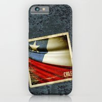 iPhone & iPod Case featuring Chile grunge sticker flag by Lulla