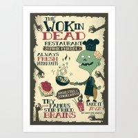 The Wok In Dead (v.2) Art Print