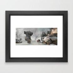 Turtle War Framed Art Print