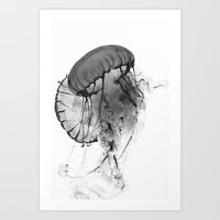 Dancing Jellies Art Print