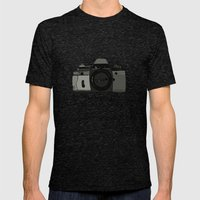 sometimes i like to take pictures Mens Fitted Tee Tri-Black SMALL