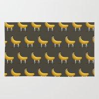 Bananas About Llamas Pattern Rug