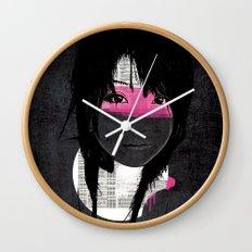 Pink Phone Wall Clock