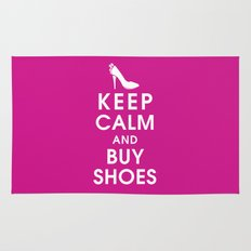 Keep Calm and Buy Shoes Rug