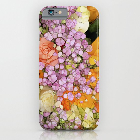Mosaic Vintage-  Floral Spring Sparkles iPhone & iPod Case