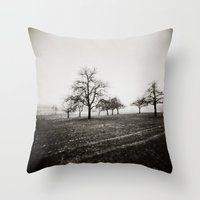 { skeleton trees } Throw Pillow