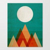 Full moon over Sahara desert Canvas Print